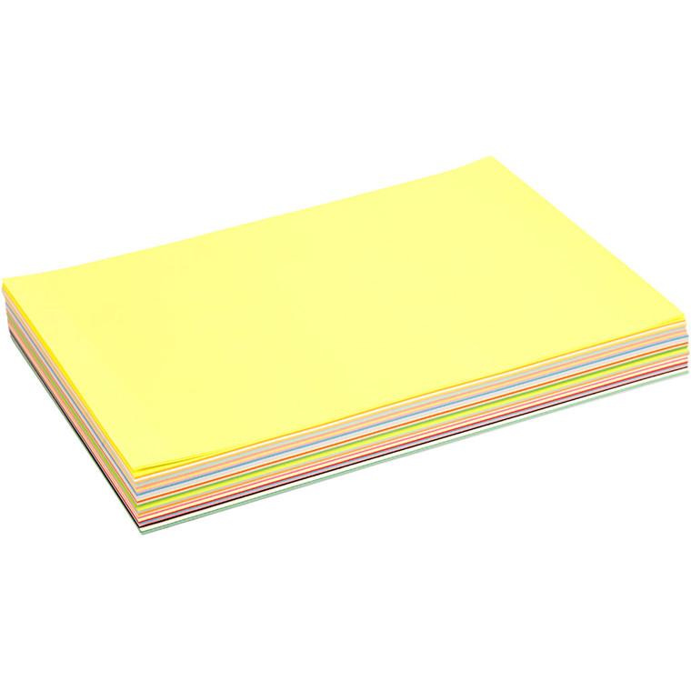 Creativ papir, A4 210x297 mm, 80 g, ass. farver, 290ass. ark