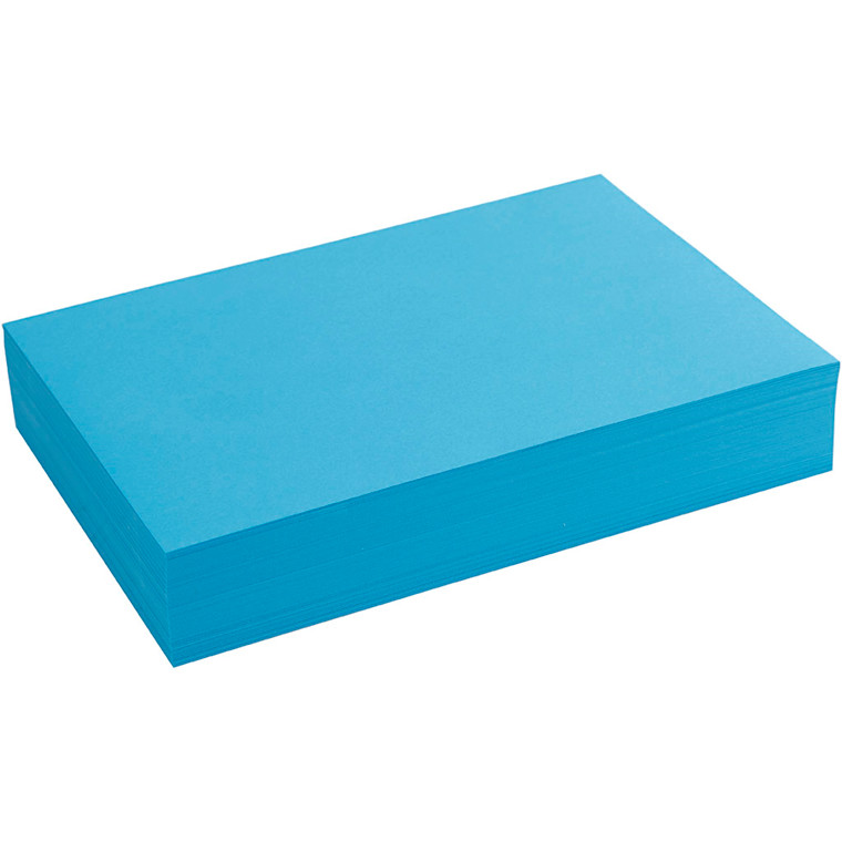 Creativ papir, A4 21x30 cm, 80 g, blå, , 500ark