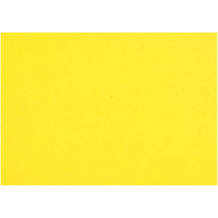 Creativ papir, A4 21x30 cm, 80 g, gul, 25ark