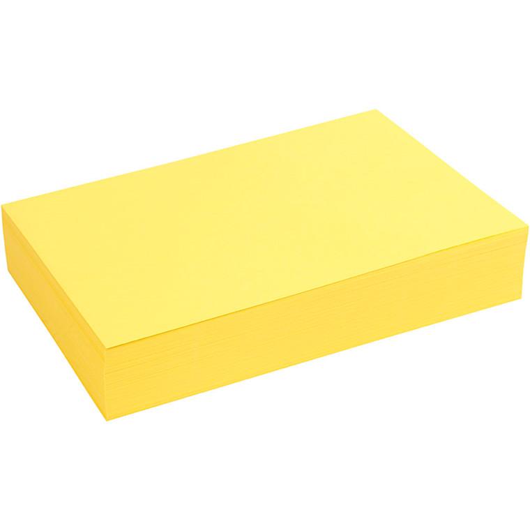 Creativ papir, A4 21x30 cm, 80 g, gul, 500ark