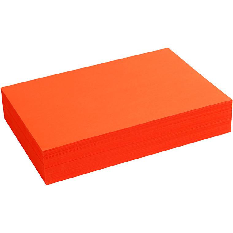 Creativ papir, A4 21x30 cm, 80 g, orange, 500ark