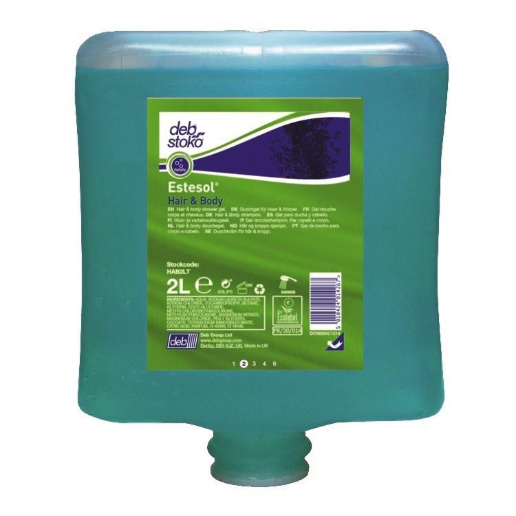 Deb Stoko Estesol Hair & Body Unixex bade-gel HAB2LT - 2 liter patron