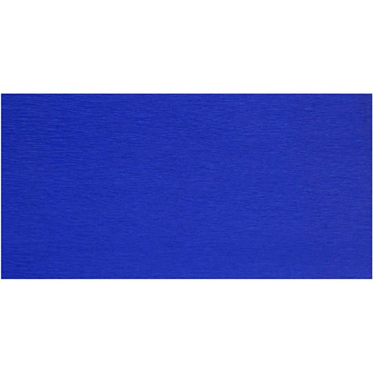 Crepepapir - 50 x 250 cm - Blå - 10 læg