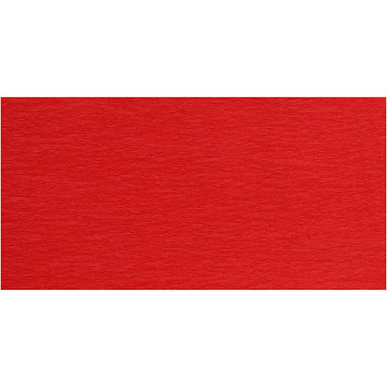 Crepepapir, 50x250 cm, rød, 10læg