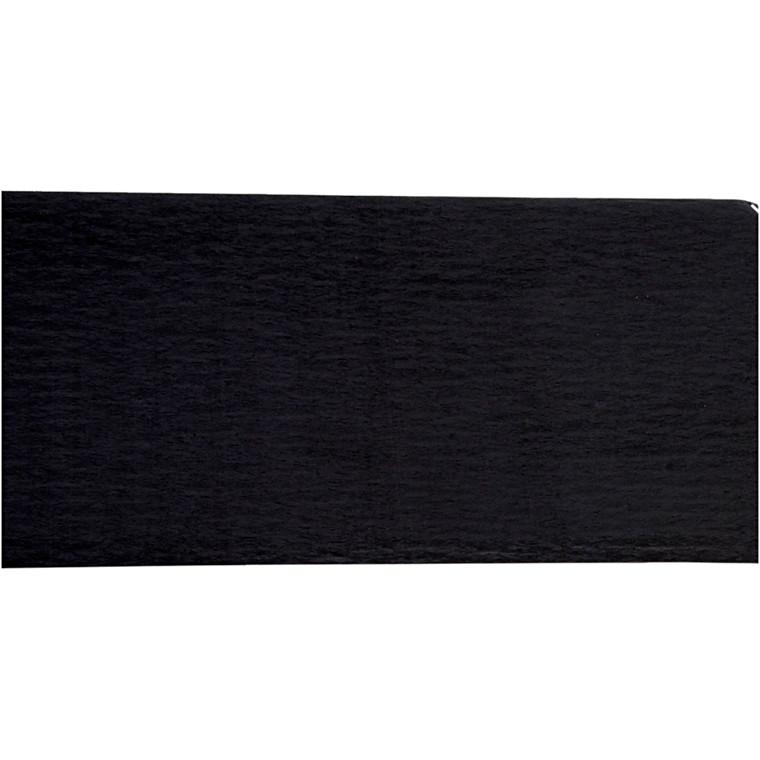 Crepepapir, 50x250 cm, sort, 10læg