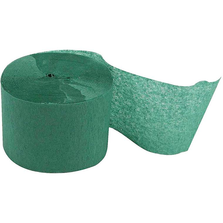 Crepepapir ruller - 5 cm bred - 20 m lang - Grøn - 20 ruller