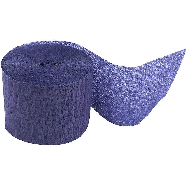 Crepepapir ruller - Bredde 5 cm - Længde 20 m - blå - 20 ruller