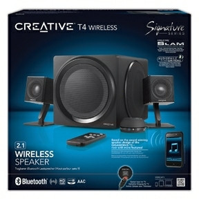 Creative T4 Wireless 2.1 Speaker system Bluetooth Black