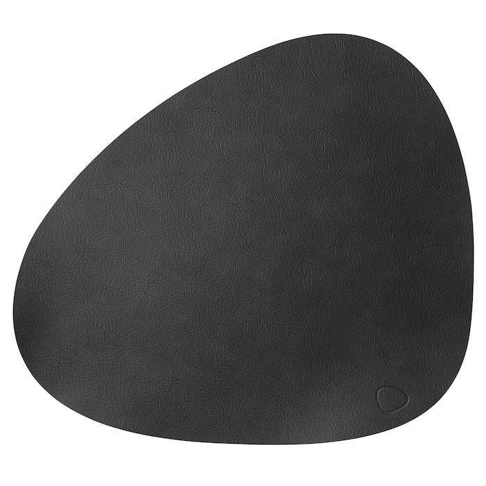 Dækkeserviet, Duni, sort, Læder,  37cm x 44cm,