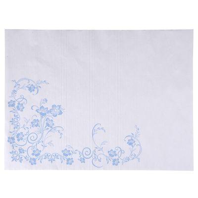 Dækkeserviet, Katja, 1-lags, hvid/blå, papir, 30cm x 40cm