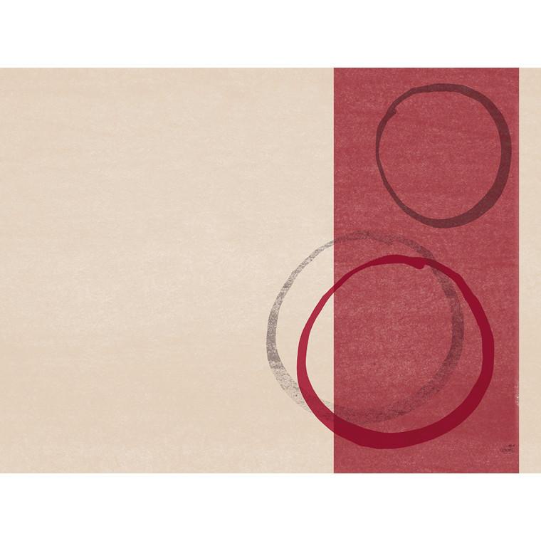Dækkeservietter Dunicel Duni Obit bordeaux 30 x 40 cm - 100 i pakningen