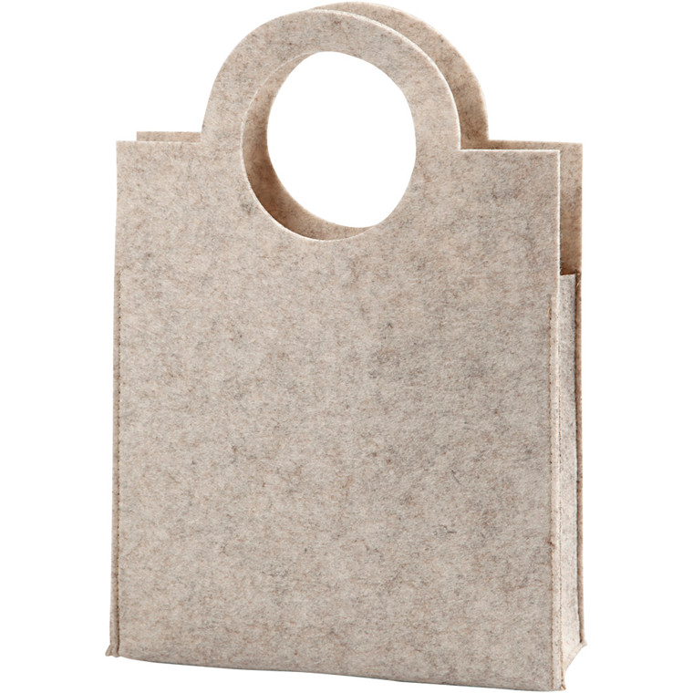 Dametaske, str. 28x40x9,5 cm, tykkelse 3 mm, råhvid, 1stk.