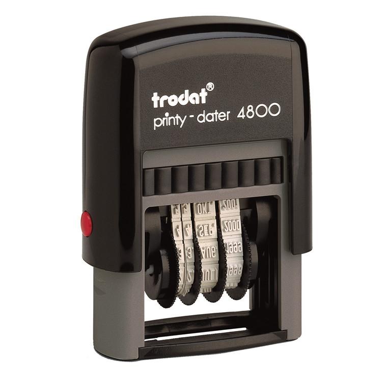Datostempel Trodat 4800 sort 3mm dato