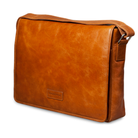 Dbramante1928 Leather messenger bag Marselisborg up to 14'' - golden tan