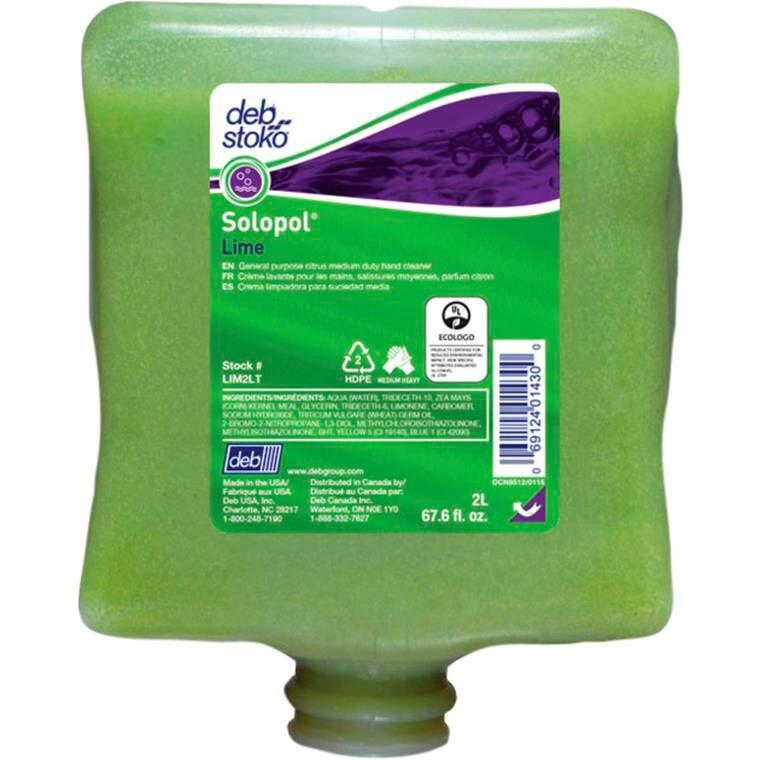 Deb Lime wash, med parfume, med micro polykugler, refill-patron, 2000 ml