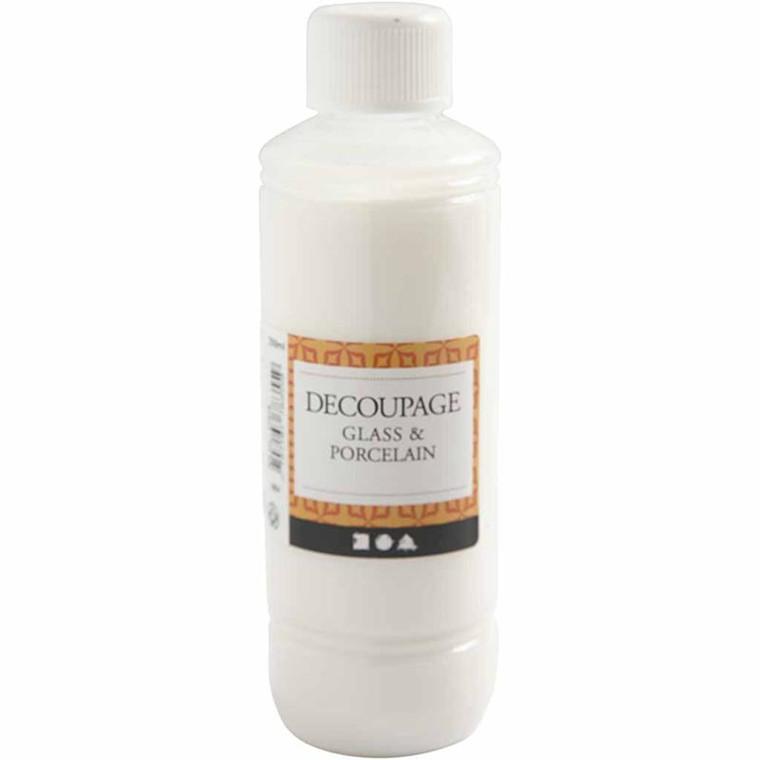Decoupagelak til glas og porcelæn - 250 ml