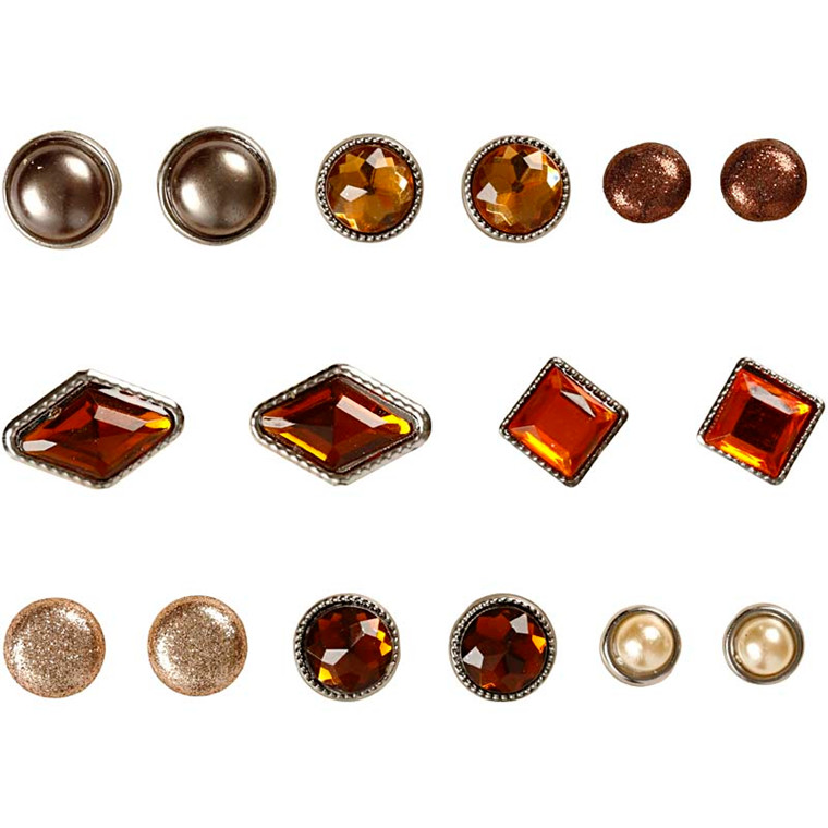 Dekonitter, str. 8-18 mm, brun, Oslo, 16ass.