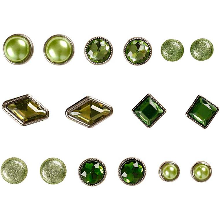 Dekonitter, str. 8-18 mm, grøn, London, 16ass.