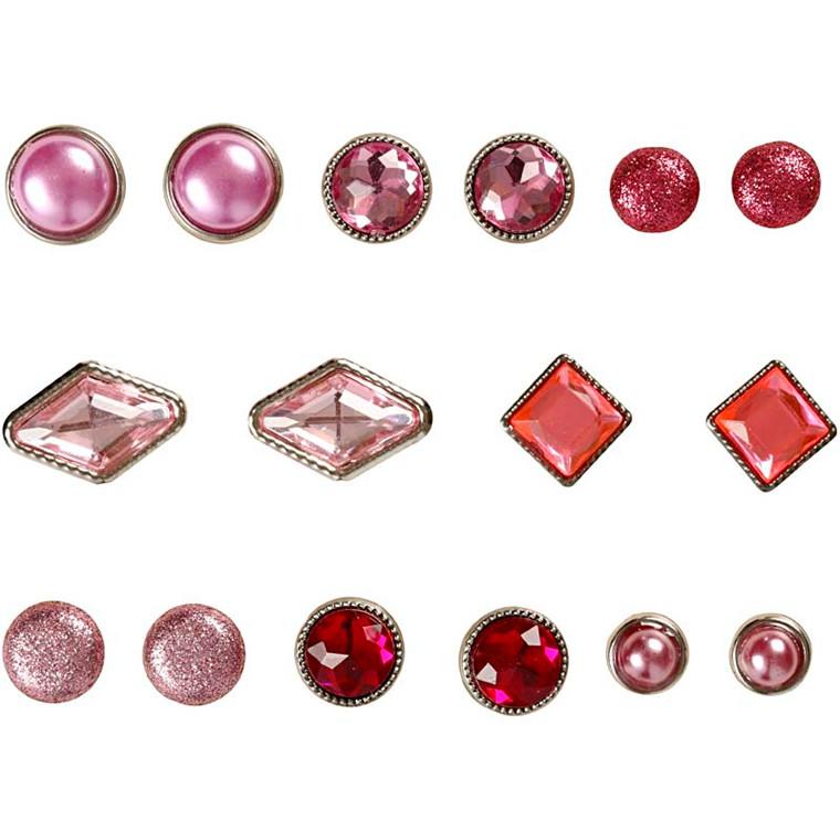 Dekonitter, str. 8-18 mm, pink, Skagen, 16ass.
