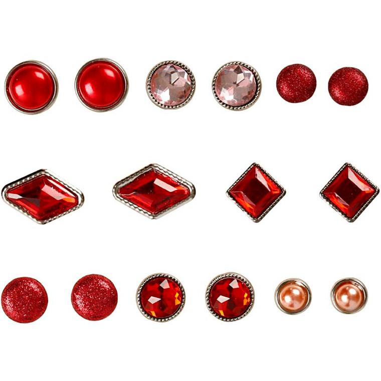 Dekonitter størrelse 8-18 mm rød Copenhagen | 16 assorteret