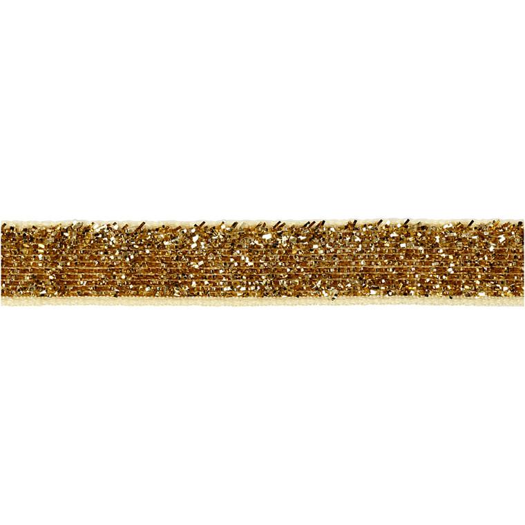 Dekorationsbånd bredde 10 mm guld Copenhagen | 5 meter