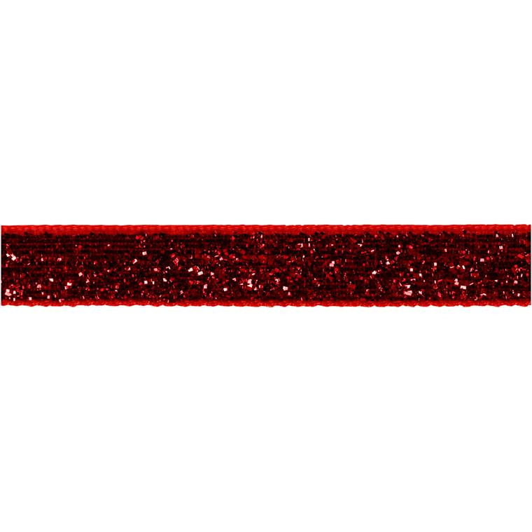 Dekorationsbånd bredde 10 mm rød Copenhagen | 5 meter