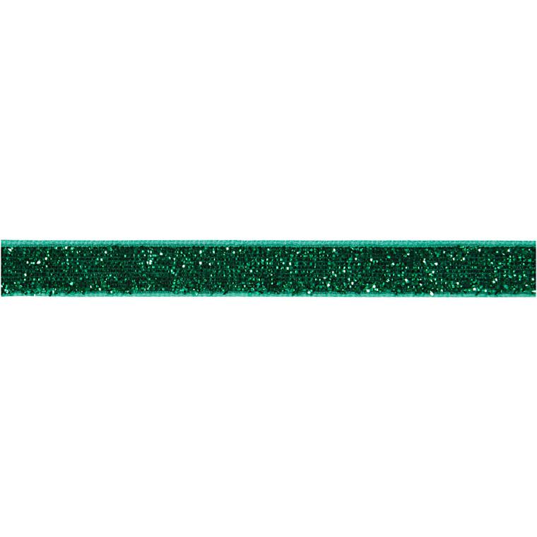 Dekorationsbånd grøn Bredde 10 mm - 5 meter