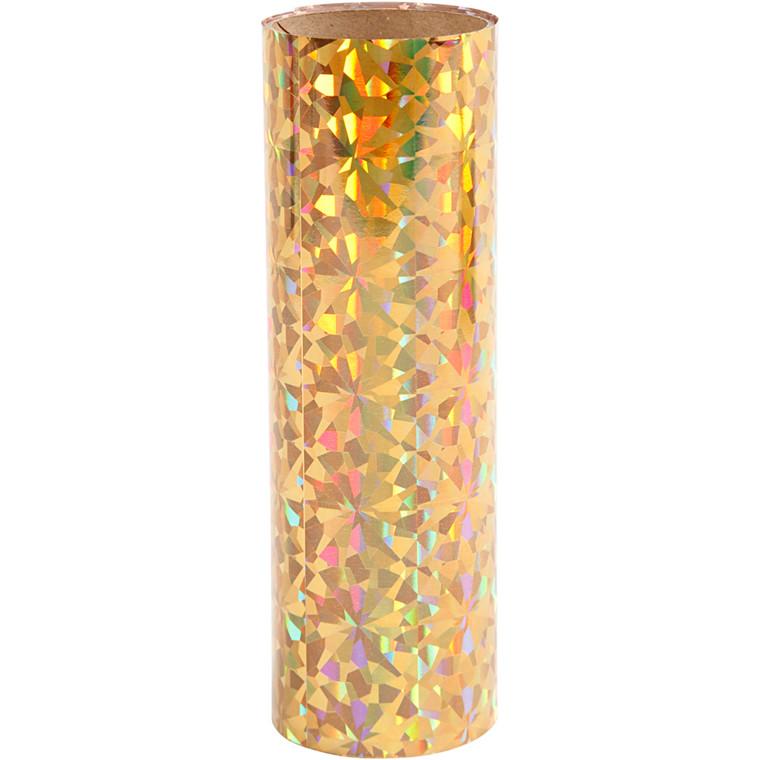 Dekorationsfolie, B: 15,5 cm, guld, 50cm