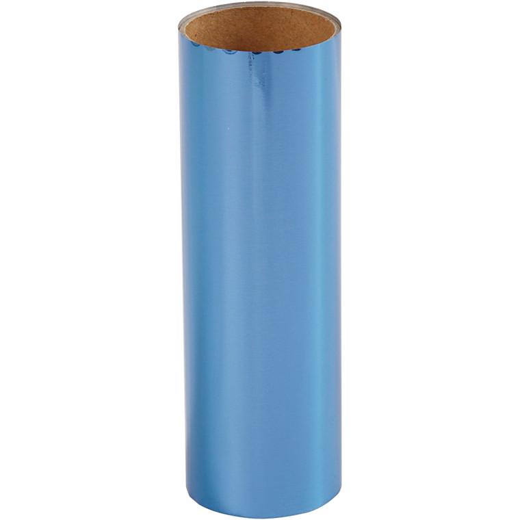 Dekorationsfolie, B: 15,5 cm, mørk blå, 50cm