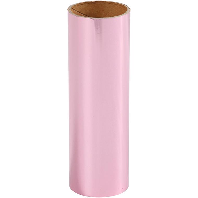 Dekorationsfolie, B: 15,5 cm, pink, 50cm