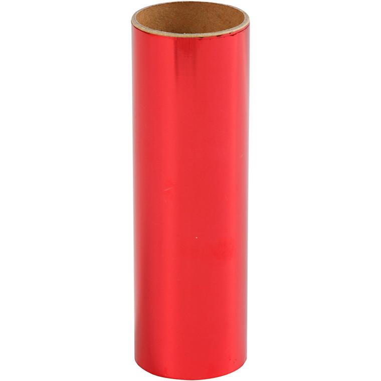 Dekorationsfolie, B: 15,5 cm, rød, 50cm