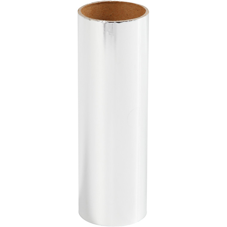 Dekorationsfolie, B: 15,5 cm, sølv, 50cm