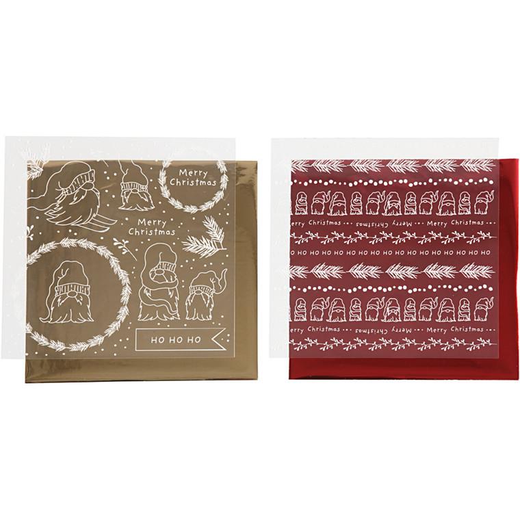 Dekorationsfolie og design limark, ark 15x15 cm, 2x2ark