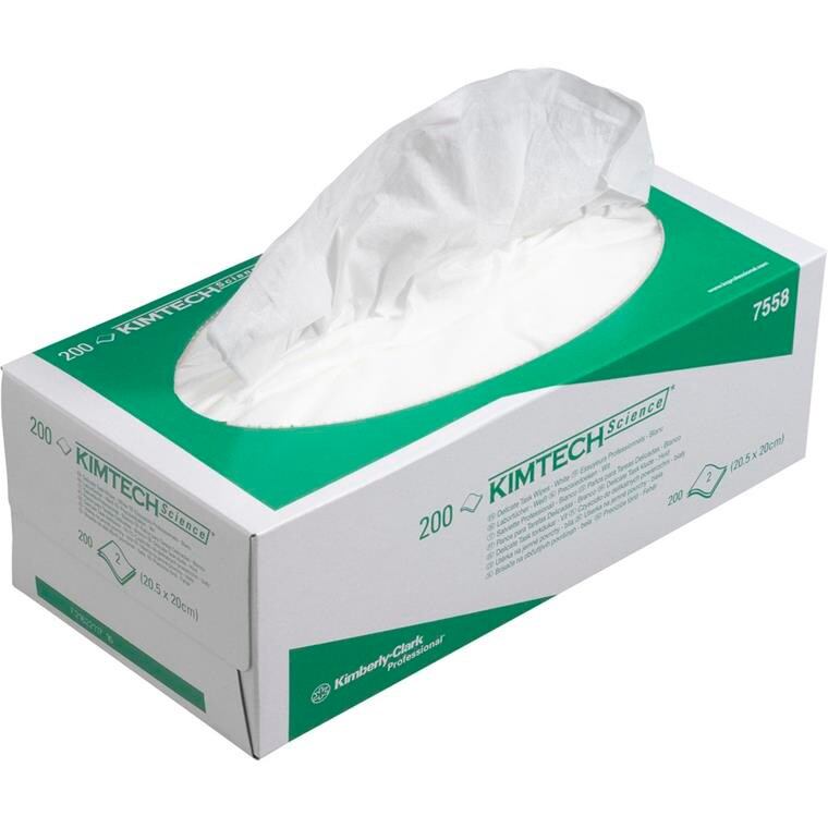 Delicate Task Klud, Kimberly-Clark Kimtech, 2-lags, 20,5x20cm, hvid, nyfiber