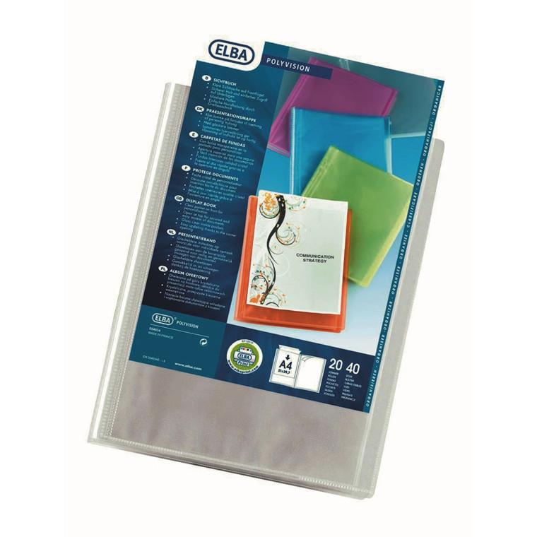 Demomappe A4 ELBA med 20 lommer og forside - Transparent