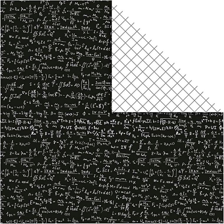 Designpapir, ark 30,5x30,5 cm, 120 g, Paris, 5ark
