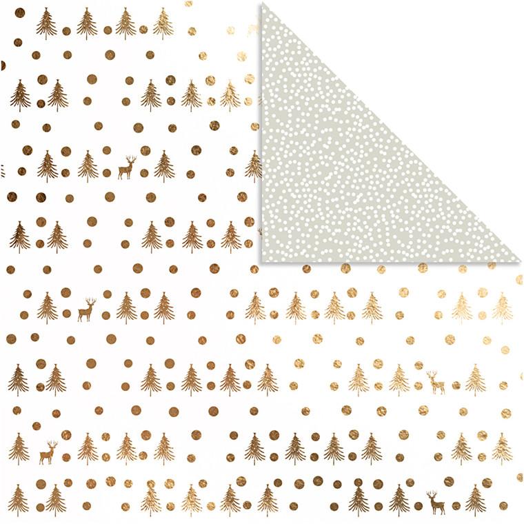 Vivi Gade Designpapir hjorte og prikker ark 30,5 x 30,5 cm 180 gram | 3 ark