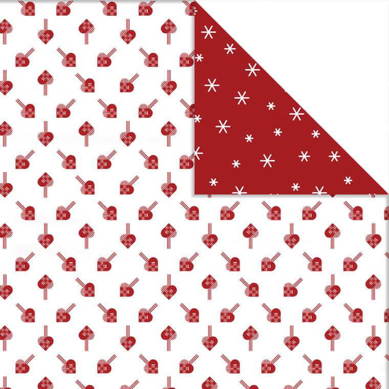 Vivi Gade Designpapir flettehjerter og iskrystaller ark 30,5 x 30,5 cm 180 gram - 3 ark