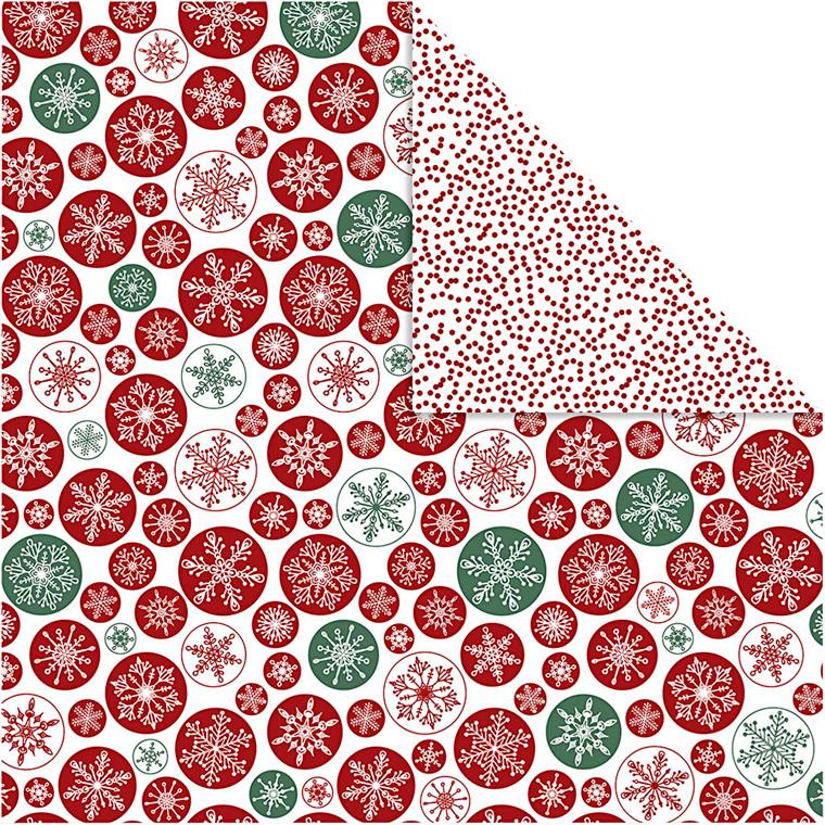Vivi Gade Designpapir iskrystaller og prikker ark 30,5 x 30,5 cm 180 gram - 5 ark