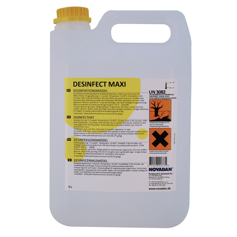 Novadan Desinfect Maxi Desinfektionsmiddel - 5 liter