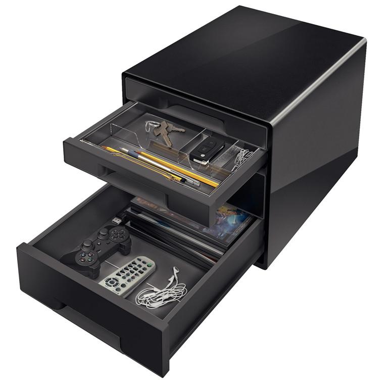 Desk Cube Leitz Dual 4-skuffer sort
