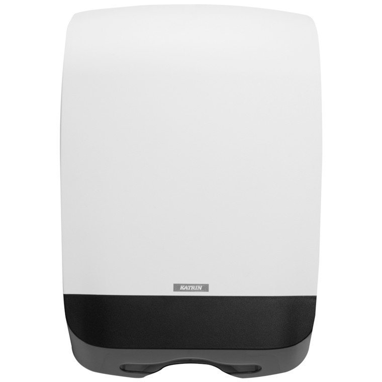Dispenser, Katrin, til nonstop håndklædeark, hvid, midi, 30,10 cm x