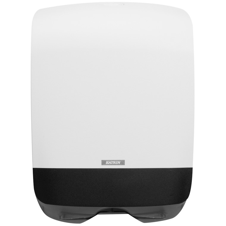 Dispenser, Katrin, til nonstop håndklædeark, hvid, mini, 24,80 cm x
