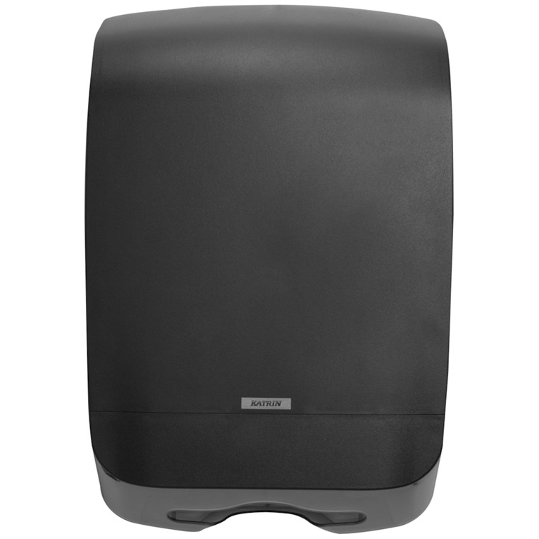 Dispenser, Katrin, til nonstop håndklædeark, sort, midi, 30,10 cm x