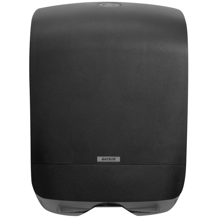 Dispenser, Katrin, til nonstop håndklædeark, sort, mini, 24,80 cm x