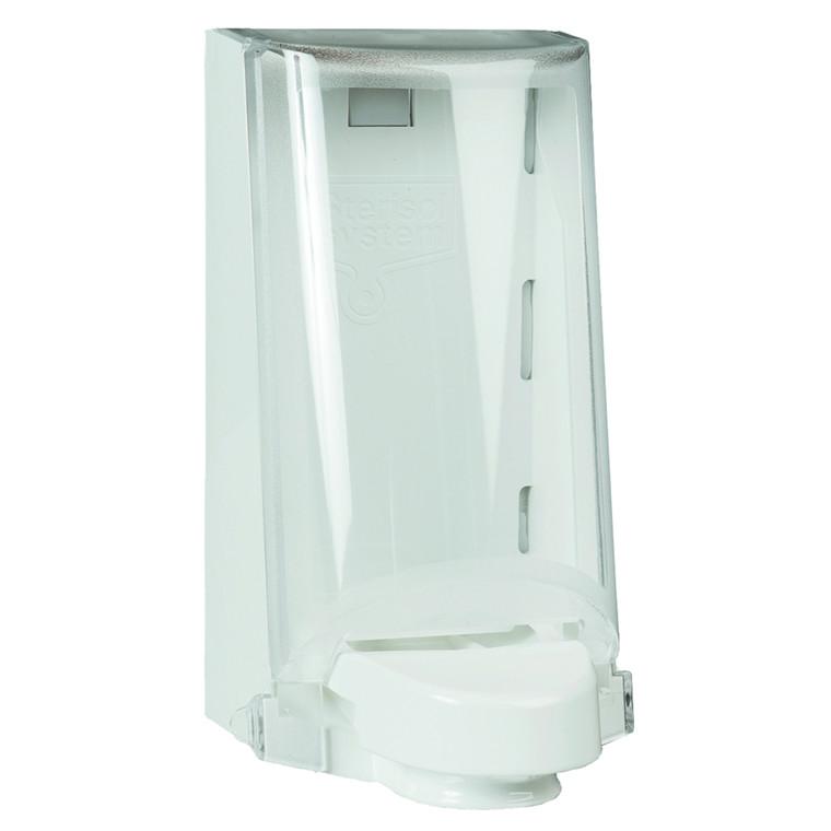 Dispenser, med transparent kappe, hvid, 700 ml,