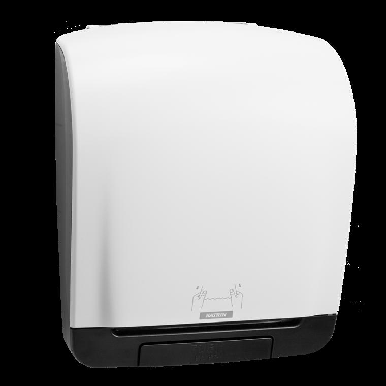 Katrin 90045 System Towel Dispenser til aftørringspapir - Hvid plast