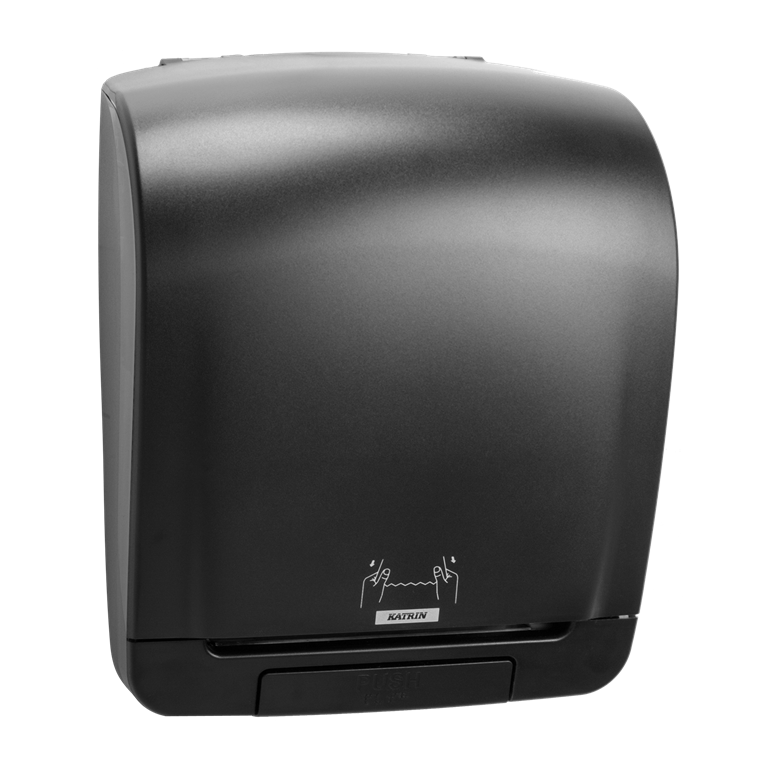 Katrin 92025 System Towel Dispenser til aftørringspapir - Sort plast