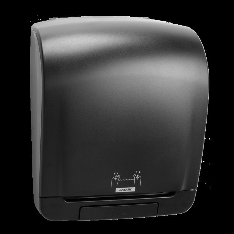 Katrin 92025 System Towel Dispenser til aftørringspapir - Sort plast