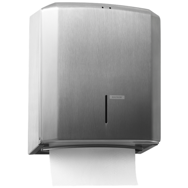 Katrin 988366 M Dispenser til papirhåndklæder - Rustfri børstet stål med lås
